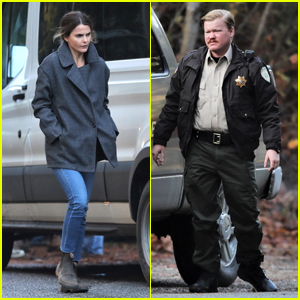 Keri Russell & Jesse Plemons Get Into Character on Set of 'Antlers'