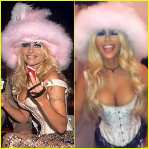 Kim Kardashian Dresses as Pamela Anderson with Jonathan Cheban as Tommy Lee for Halloween
