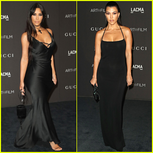 Kim & Kourtney Kardashian Slay the Black Carpet at LACMA Gala 2018