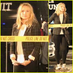 Kristen Bell Films Explosion Scene on Set of 'Veronica Mars' Reboot in Hermosa Beach!