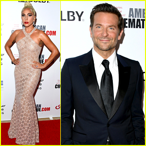 Lady Gaga Stuns in Sheer Gown While Supporting Bradley Cooper at American Cinematheque Event