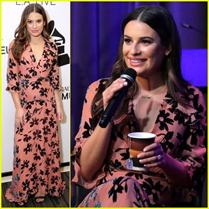 Lea Michele Visits Grammy Museum After Wrapping Up U.S LM/DC Tour!