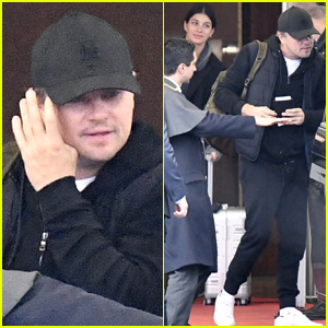 Leonardo DiCaprio & Camila Morrone Arrive in Paris Together