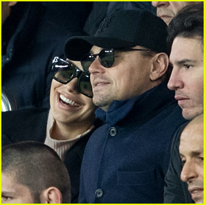 Leonardo DiCaprio & Camila Morrone Look So Cute Together at Soccer Match