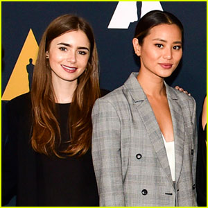 Lily Collins & Jamie Chung Reunite at Academy Nicholl Fellowships in Screenwriting Awards!