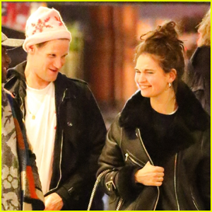 Lily James & Matt Smith Grab Dinner with Friends in NYC
