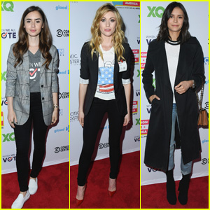 Lily Collins, Katherine McNamara & Nina Dobrev Attend Telethon For America!