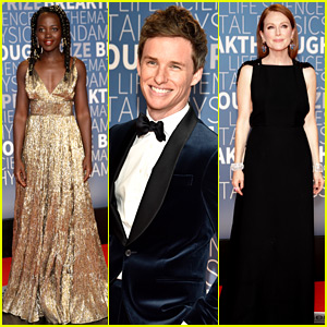 Oscar Winners Lupita Nyong'o, Julianne Moore, & Eddie Redmayne Present at Breakthrough Prize Event!