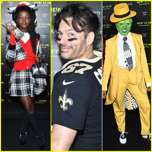 Lupita Nyong'o, Harry Connick Jr, & Kat Graham Step Out for Heidi Klum's Halloween Party!
