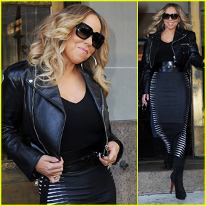 Mariah Carey Steps Out to Promote 'Caution' in New York City