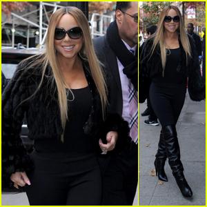 Mariah Carey Visits a Recording Studio in NYC!