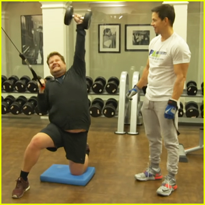 James Corden Joins Mark Wahlberg for 4 AM Workout in Hilarious Video - Watch Now!