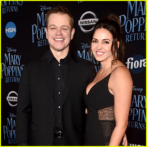 Matt Damon & Wife Luciana Support Friend Emily Blunt at 'Mary Poppins Returns' Premiere