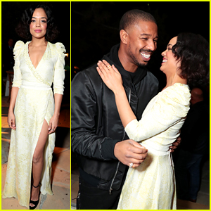Michael B. Jordan & Tessa Thompson Celebrate 'Creed II' at Friends & Family Screening