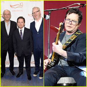 Michael J. Fox Performs with Joan Jett at Parkinson's Benefit