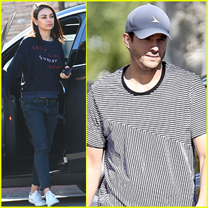 Mila Kunis & Ashton Kutcher Run Errands Separately in L.A.