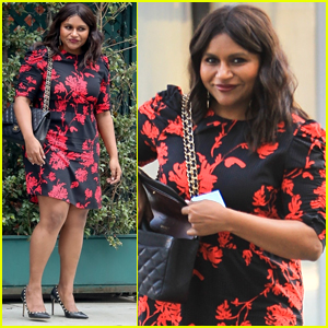 Mindy Kaling Steps Out in Style for Lunch in Beverly Hills