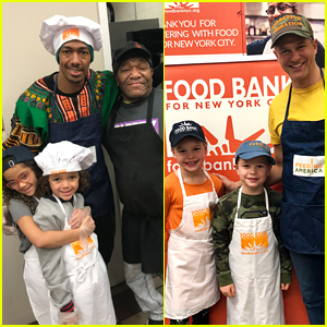Nick Cannon, David Burtka, & Their Kids Dish Out Thanksgiving Meals!