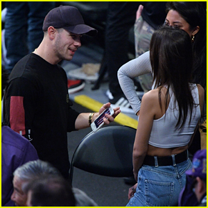Nick & Joe Jonas Chat With Emily Ratajkowski at the Lakers Game in LA!