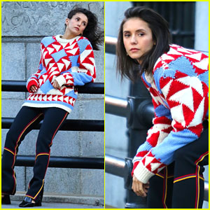 Nina Dobrev Gets In The Festive Spirit For New Photo Shoot