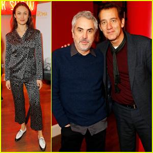 Olga Kurylenko & Clive Owen Step Out for Special 'Roma' Screening!