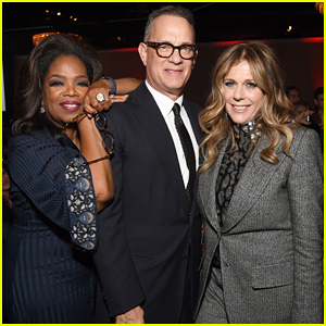 Oprah Helps Honor Tom Hanks & Rita Wilson at Ambassadors for Humanity Gala!