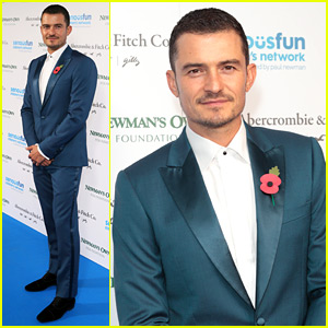 Orlando Bloom Suits Up for a Good Cause in London