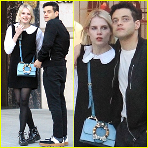 Rami Malek & Girlfriend Lucy Boynton Have a Day Date on Rodeo Drive!