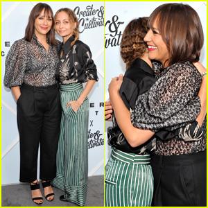 Rashida Jones & Nicole Richie Stop for a Hug on the Red Carpet