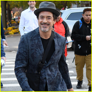 Robert Downey Jr. Rocks a Cool Pattern-Print Suit for Morning Meeting!