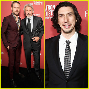 Ryan Gosling & Adam Driver Help Honor Harrison Ford at Patron Artists Awards 2018!