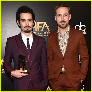 Ryan Gosling Honors 'First Man' Director Damien Chazelle at Hollywood Film Awards 2018!