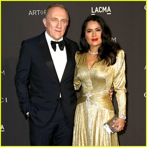 Salma Hayek Is Gucci Gorgeous at LACMA Gala with Husband Francois-Henri Pinault