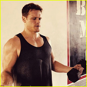 Sam Heughan Shows Off His Muscles While Working Out in Budapest - See the Hot Gym Pic!