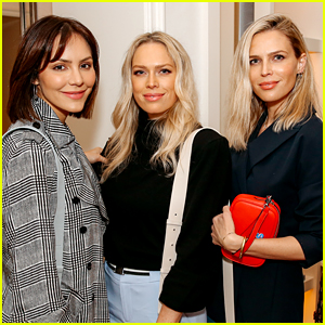 Katharine McPhee Supports Future Step-Daughters Sara & Erin Foster at Leatherology Event!