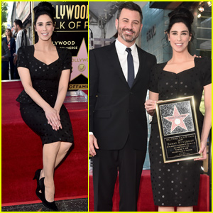 Sarah Silverman Gets Support From Ex Jimmy Kimmel at Walk of Fame Ceremony