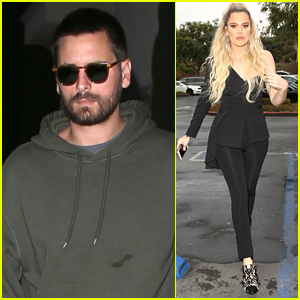 Scott Disick Meets Up with Khloe Kardashian in L.A.