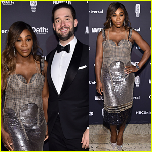 Serena Williams is Supported by Husband Alexis Ohanian at Brand Genius Awards 2018
