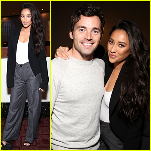 Shay Mitchell Reunites with Ian Harding at 'Possession of Hannah Grace' L.A. Screening!