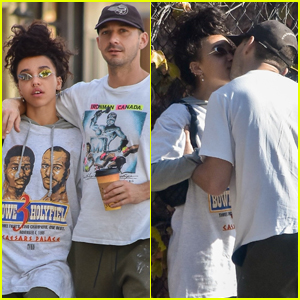 Shia LaBeouf Plants Kiss on FKA twigs During Their Romantic Outing