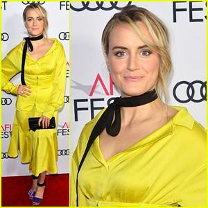 Taylor Schilling Trades 'Orange' for Yellow at AFI Fest Event!
