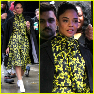 Tessa Thompson Braves the Snow While Promoting 'Creed II' in NYC