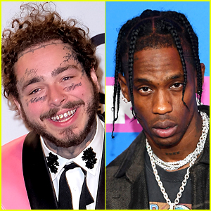 Travis Scott Surprises Postmates' Biggest Fan, Post Malone, with a Postmates Delivery!