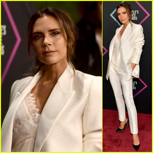 Victoria Beckham Wins Fashion Icon Award at People's Choice Awards 2018!