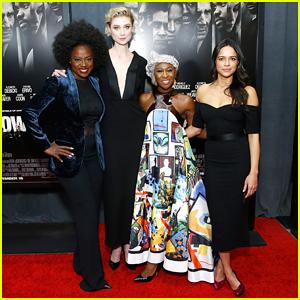 Viola Davis & Michelle Rodriguez Team Up for 'Widows' New York Premiere!