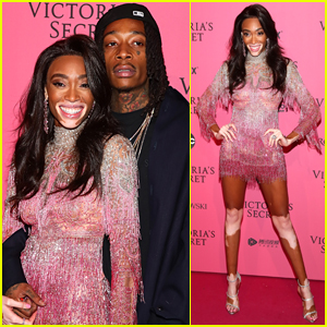 Winnie Harlow Cozies Up to Boyfriend Wiz Khalifa at Victoria's Secret Fashion Show 2018 After Party!