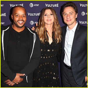 Zach Braff, Donald Faison, & Sarah Chalke Have 'Scrubs' Reunion at Vulture Festival 2018!