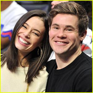 Adam DeVine & Chloe Bridges Look So Happy at Clippers Game