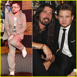 Adam Lambert, Dave Grohl, & Jeremy Renner Attend Opening Night of Lady Gaga's 'Enigma' in Vegas!