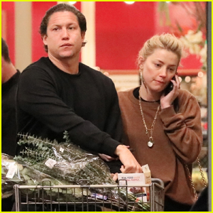 Amber Heard & Boyfriend Vito Schnabel Pick Up Groceries Ahead of the Holidays!